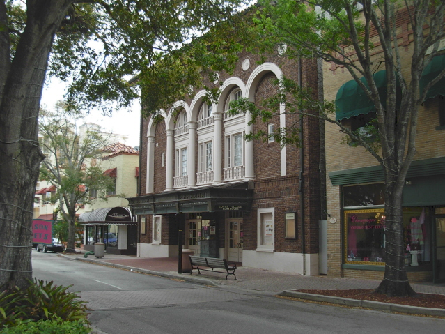Cocoa, Florida.  The old movie theatre.